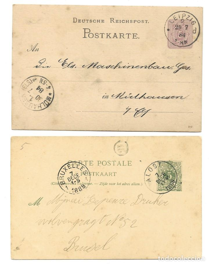 Sellos: INCREÍBLE ÁLBUM CON 135 ENTEROS POSTALES CIRCULADOS DE PAÍSES EUROPEOS DE 1877 HASTA PRINC. SIGLO XX - Foto 62 - 190057928