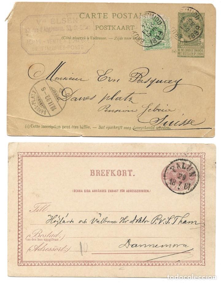 Sellos: INCREÍBLE ÁLBUM CON 135 ENTEROS POSTALES CIRCULADOS DE PAÍSES EUROPEOS DE 1877 HASTA PRINC. SIGLO XX - Foto 64 - 190057928