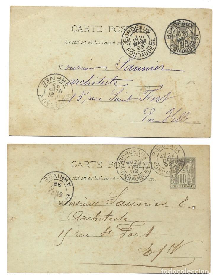 Sellos: INCREÍBLE ÁLBUM CON 135 ENTEROS POSTALES CIRCULADOS DE PAÍSES EUROPEOS DE 1877 HASTA PRINC. SIGLO XX - Foto 66 - 190057928
