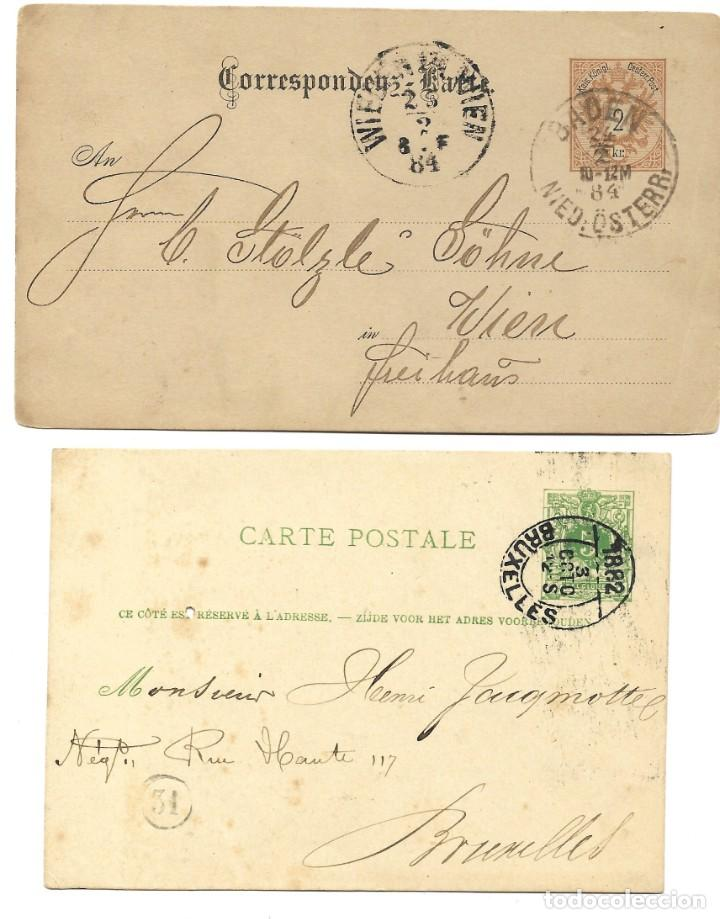 Sellos: INCREÍBLE ÁLBUM CON 135 ENTEROS POSTALES CIRCULADOS DE PAÍSES EUROPEOS DE 1877 HASTA PRINC. SIGLO XX - Foto 67 - 190057928