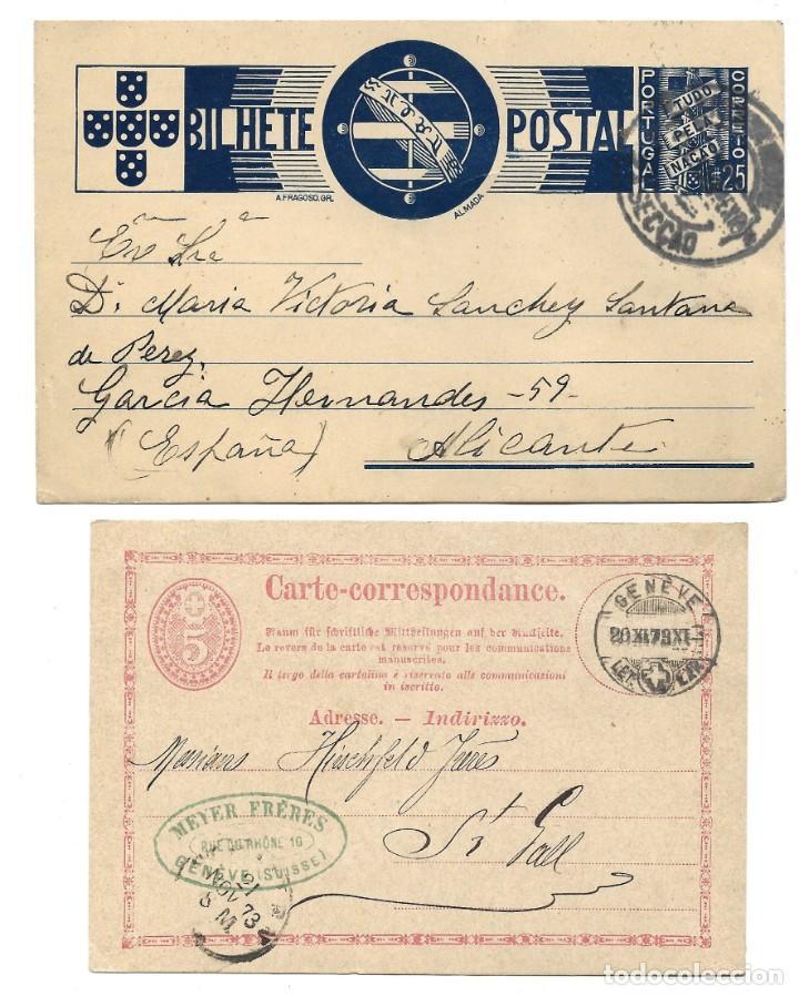 Sellos: INCREÍBLE ÁLBUM CON 135 ENTEROS POSTALES CIRCULADOS DE PAÍSES EUROPEOS DE 1877 HASTA PRINC. SIGLO XX - Foto 71 - 190057928