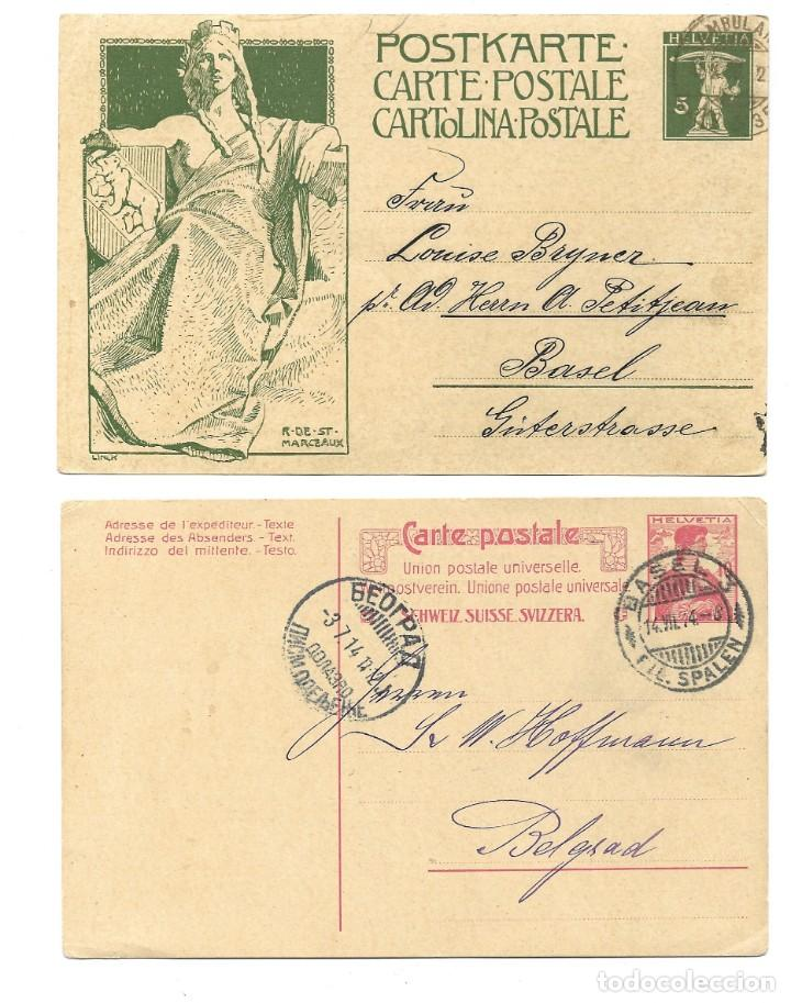 Sellos: INCREÍBLE ÁLBUM CON 135 ENTEROS POSTALES CIRCULADOS DE PAÍSES EUROPEOS DE 1877 HASTA PRINC. SIGLO XX - Foto 72 - 190057928