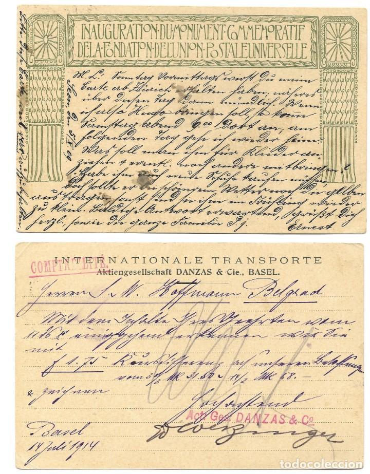 Sellos: INCREÍBLE ÁLBUM CON 135 ENTEROS POSTALES CIRCULADOS DE PAÍSES EUROPEOS DE 1877 HASTA PRINC. SIGLO XX - Foto 73 - 190057928