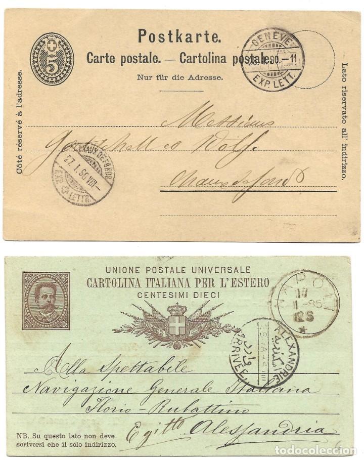 Sellos: INCREÍBLE ÁLBUM CON 135 ENTEROS POSTALES CIRCULADOS DE PAÍSES EUROPEOS DE 1877 HASTA PRINC. SIGLO XX - Foto 74 - 190057928