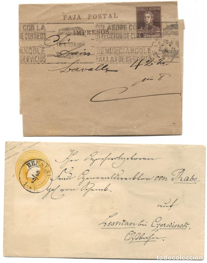 Sellos: INCREÍBLE ÁLBUM CON 135 ENTEROS POSTALES CIRCULADOS DE PAÍSES EUROPEOS DE 1877 HASTA PRINC. SIGLO XX - Foto 76 - 190057928