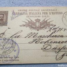 Sellos: ENTERO POSTAL CIRCULADA 1886 DE FIRENSA ALEMANIA. Lote 190847661