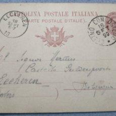 Sellos: ENTERO POSTAL CIRCULADA DE BÉLGICA ANVERS 1899. Lote 190848790