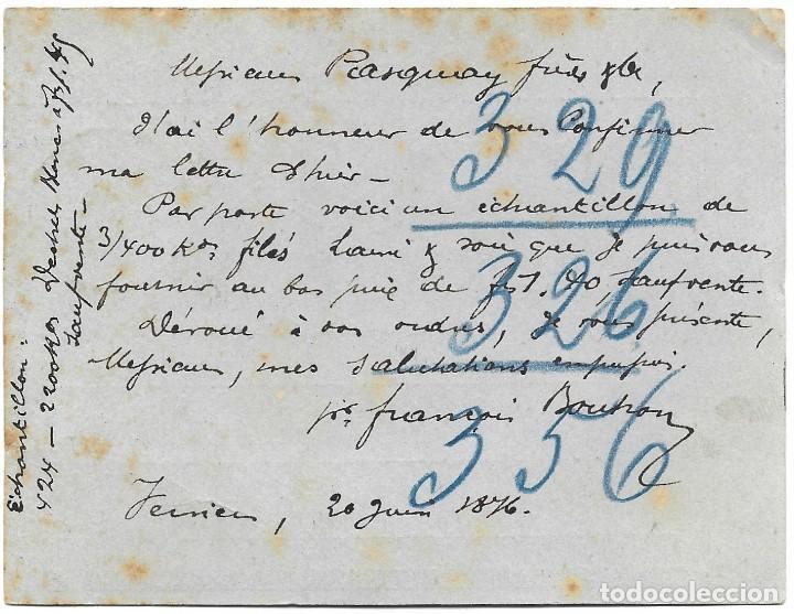 Sellos: ENTERO POSTAL DE BÉLGICA AÑO 1876 CIRCULADO - Foto 2 - 190938060