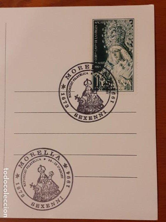 Sellos: Postal con matasellos 50 Sexeni de Morella 1994 - Foto 3 - 191890276