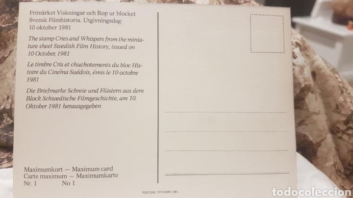 Sellos: Postal sello suecia 1981 - Foto 2 - 194224428