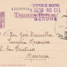 Sellos: ENTERO POSTAL NUM. 76 DE COMERCIO DE MADERAS ISIDRO ROSELL EN GIRONA - CON MATASELLOS AMBULANTE. Lote 198631115