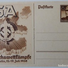 Sellos: NAZISMO / SA REICHSWETTKÂMPFE BERLIN 1938. Lote 202636977