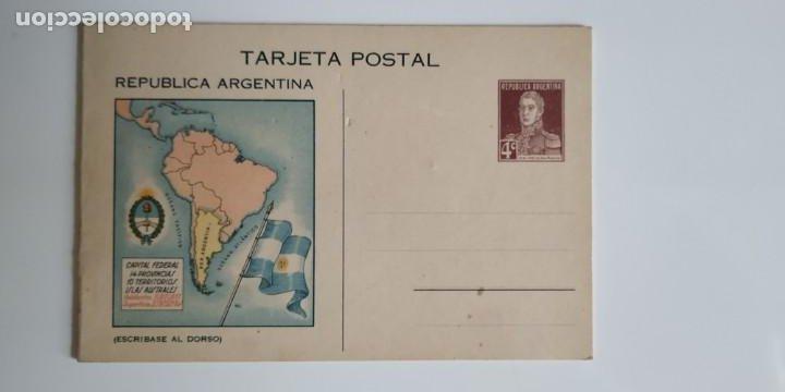 MAGNIFICA Y RARA TARJETA POSTAL ARGENTINA. (Sellos - Extranjero - Entero postales)