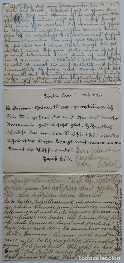 Sellos: Nazismo / 5 Enteros postales iguales Alemania 1933 - Deutschland, Deutschland über alles! 30.1.1933 - Foto 3 - 204828853