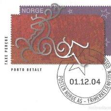 Sellos: ENTERO POSTAL NORUEGA 2004. CHRISTMA. FELICITACIÓN DEL SERVICIO FILATÉLICO A LOS ABONADOS. Lote 214843105