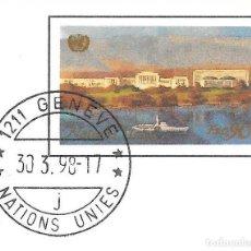 Sellos: NACIONES UNIDAS VIENA. ONU. ENTERO POSTAL 1998. CIRCULADO. Lote 214845291