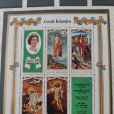 Sellos: HOJA ISLAS COOK - 1970-MINIATURA DE PASCUA. Lote 215658467