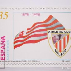 Sellos: TARJETA DEL CORREO:ATHLETIC CLUB BILBAO 1898-1998 TARIFA NACIONAL Nº 70-2,SIN CIRCULAR. Lote 218572882