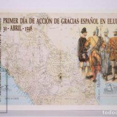 Sellos: TARJETA DEL CORREO: IV CENTENARIO FUNDACIÓN NUEVO MÉXICO ACCION DE GRACIAS ESPAÑA Nº 80-3,SIN CIRCUL. Lote 218573722
