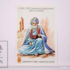 Timbres: TARJETA DEL CORREO:VIII CENT. NACIMIENTO DE IBN AL-ABBÁR. AJUNTAMENT ONDA Nº 18-1,SIN CIRCULAR. Lote 218577066