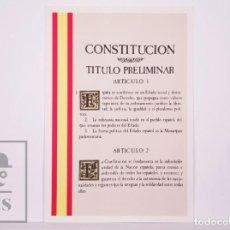 Sellos: TARJETA DEL CORREO:VIII MUESTRA DE FILATELIA Y COLECCIONISMO-CORDOBA Nº 14-1 - CONSTITUCIÓN - S/C. Lote 218577876