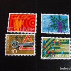Sellos: SUIZA. SERIE COMPLETA CON MATASELLOS. Nº 895/898 YVERT. 1972.. Lote 219819851