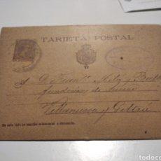 Sellos: TARJETA POSTAL CARTEL COMERCIAL 1899. Lote 221306893