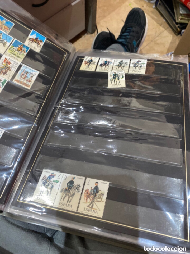 Sellos: Álbum de sellos antiguos. Ver todas las fotos - Foto 5 - 224167633