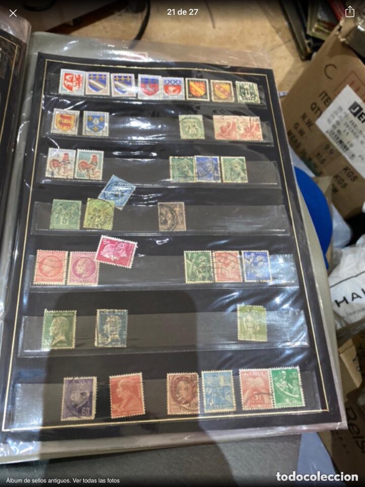 Sellos: Álbum de sellos antiguos. Ver todas las fotos - Foto 21 - 224167633