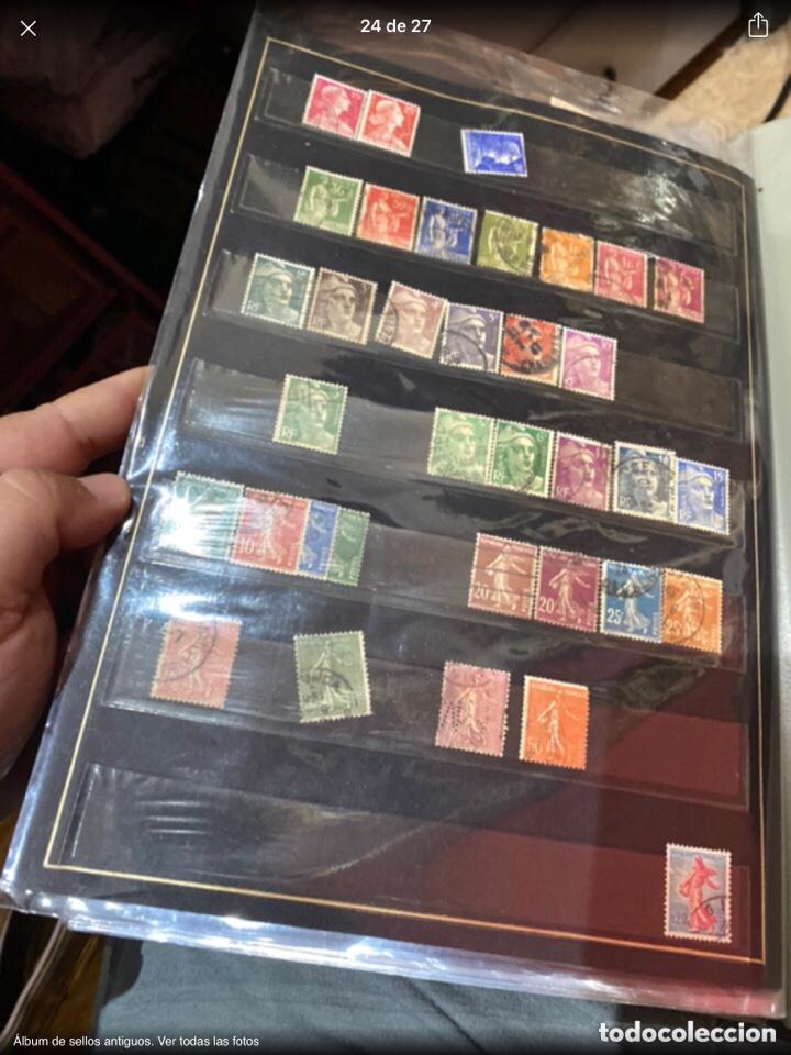 Sellos: Álbum de sellos antiguos. Ver todas las fotos - Foto 24 - 224167633