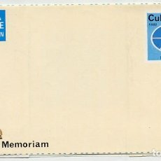 Francobolli: AJEDREZ CHESS - HABANA - AEROGRAMA IN MEMORIAM CAPABLANCA 1982 - FOTOS ADIC.. Lote 233030880