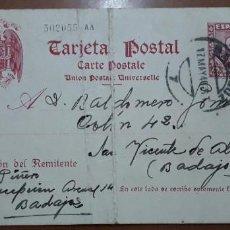 Sellos: SELLOS ESPAÑA 1938/1940 TARJETAS POSTALES 84 CIRCULADA V.CAT, 156. Lote 236184340