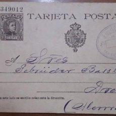 Sellos: SELLOS ESPAÑA 1901 TARJETAS POSTALES NUMERO 37 DE IDA CIRCULADA V.CAT, 22€. Lote 236186330