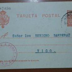 Sellos: SELLOS ESPAÑA 1913 TARJETAS POSTALES NUMERO 49 CIRCULADA. Lote 236187480