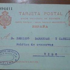 Sellos: SELLOS ESPAÑA 1904 TARJETAS POSTALES NUMERO 47 CIRCULADA. Lote 236187965