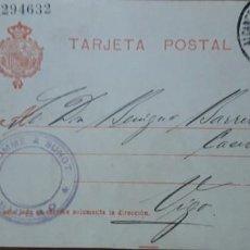 Sellos: SELLOS ESPAÑA 1910 TARJETAS POSTALES NUMERO 49 CIRCULADA. Lote 236188305