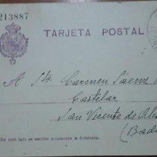 Sellos: SELLOS ESPAÑA 1910 TARJETAS POSTALES NUMERO 50 CIRCULADA. Lote 236189865