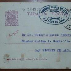 Sellos: SELLOS ESPAÑA 1932 TARJETAS POSTALES NUMERO 69 CIRCULADA. Lote 236191415
