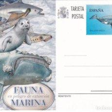 Sellos: 2013-TARJETA ENTERO POSTALNº193-FAUNA MARINA EN PELIGRO DEEXTINCION. Lote 244683760