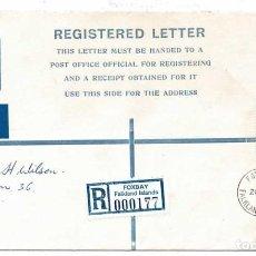Sellos: ENTERO POSTAL CIRCULADO. FALKLAND ISLANDS 1982. Lote 246517705