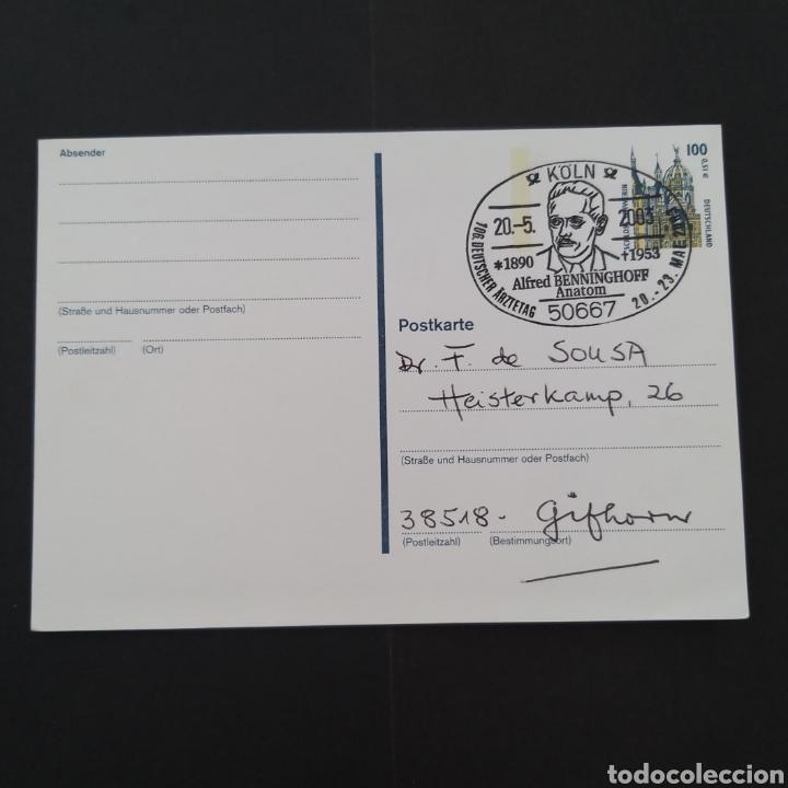 TARJETA ANTIGUA ENTERO POSTAL ALEMANIA MATASELLOS ESPECIAL EP018 (Sellos - Extranjero - Entero postales)