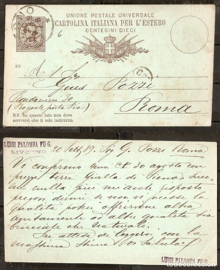 ITALIA. 1889. ENTERO POSTAL (Sellos - Extranjero - Entero postales)