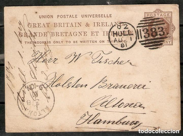 GRAN BRETAÑA. 1881. ENTERO POSTAL. 1 PENNY MARRÓN (VICTORIA) (Sellos - Extranjero - Entero postales)