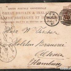 Sellos: GRAN BRETAÑA. 1881. ENTERO POSTAL. 1 PENNY MARRÓN (VICTORIA). Lote 253966735