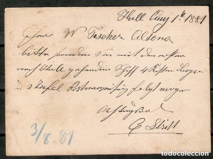 Sellos: GRAN BRETAÑA. 1881. ENTERO POSTAL. 1 penny marrón (Victoria) - Foto 2 - 253966735