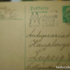 Sellos: ALEMANIA NAZI ENTERO POSTAL - IRCULADA EN 1939 - LEIPZIG. Lote 257358415
