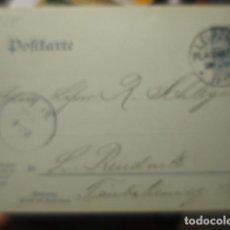 Sellos: ALEMANIA ENTERO POSTAL DOBLE CIRCULADO AÑO 1905 ? - LEIPZIG. Lote 257358505