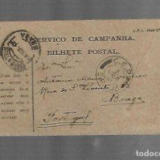 Selos: ENTERO POSTAL. PORTUGAL. SERVICIO DE CAMPANHA. VER. Lote 260792810