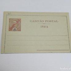 Selos: CARTA POSTAL. PORTUGAL. 2 TANGAS. INDIA PORTUGUESA. SOBRECARGA REPÚBLICA. VER FOTOS. Lote 261155660