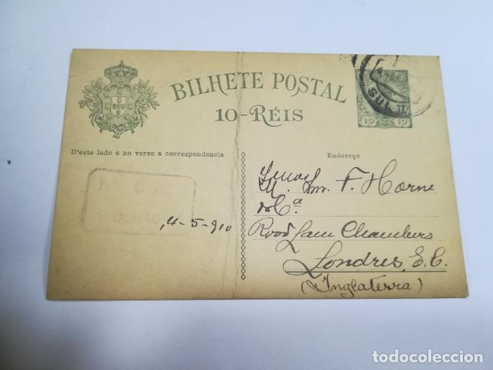 ENTERO POSTAL. PORTUGAL. 10 REIS. ESCRITA Y CIRCULADA. VER (Sellos - Extranjero - Entero postales)